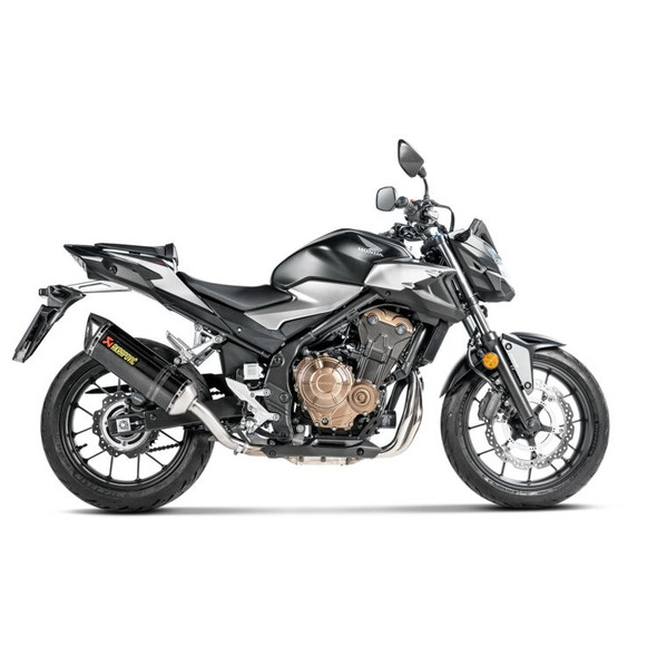 Akrapovic 19-20 Honda CBR 500R / CB 500F/X - Slip-On Exhaust - Carbon Canister