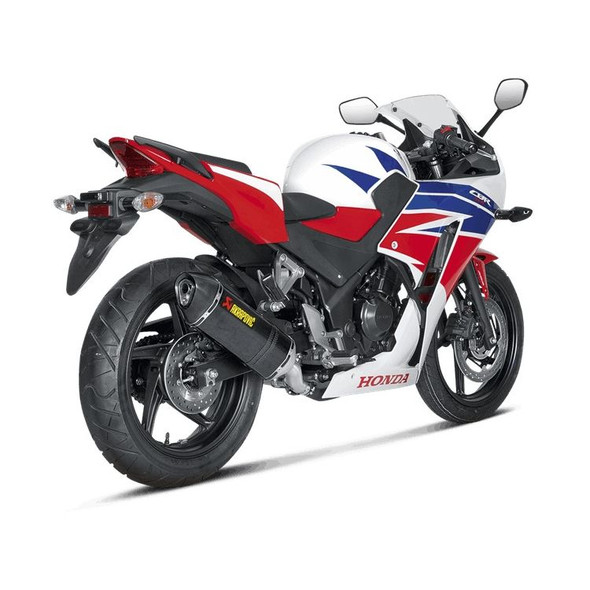Akrapovic 15-20 Honda CBR 300R / CB 300F - Slip-On Exhaust - Carbon Canister