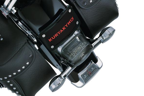 Kuryakyn Curved Laydown License Plate Frame Mount - Harley-Davidson