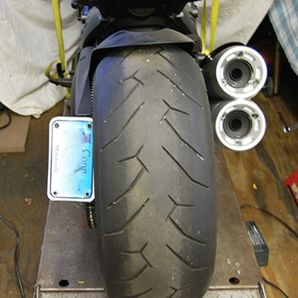 New Rage Cycles 2 Position Side Mount LED Fender Eliminator Bracket - Ducati Diavel