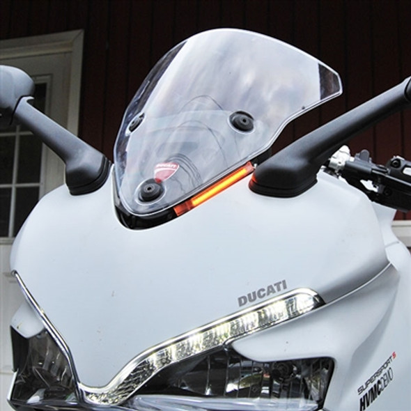 New Rage Cycles LED Front Turn Signals - 17-20 Ducati SuperSport/S