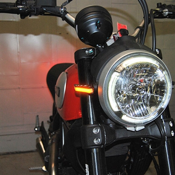 New Rage Cycles LED Front Turn Signals - 15-20 Ducati Scrambler