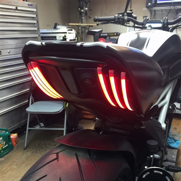 New Rage Cycles LED Rear Turn Signals - 11-18 Ducati Diavel