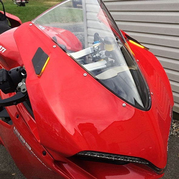 New Rage Cycles Mirror Block Off LED Turn Signals - Ducati 1299 Panigale
