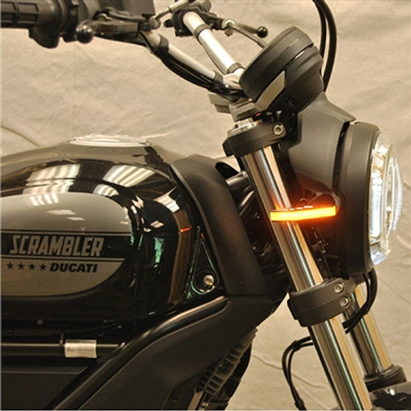 New Rage Cycles LED Front Turn Signals - 16-20 Ducati Scrambler Cafe Racer/Sixty2/Desert Sled