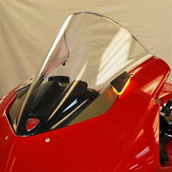 New Rage Cycles Mirror Block Off LED Turn Signals - 18-19 Ducati Panigale V4/S