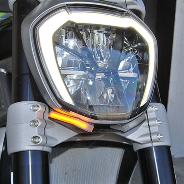 New Rage Cycles LED Front Turn Signals - 16-20 Ducati XDiavel/S