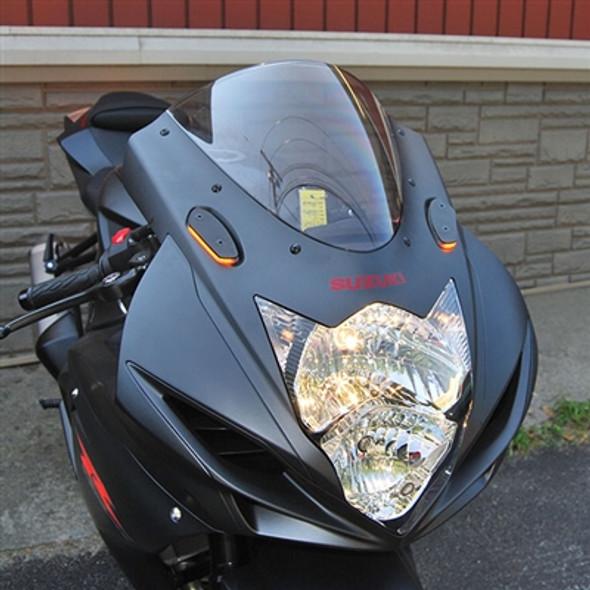 New Rage Cycles Mirror Block Off LED Turn Signals - 06-17 Suzuki GSXR 600/750 / 05-16 GSXR 1000