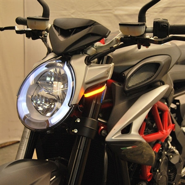New Rage Cycles LED Front Turn Signals - 17 MV Agusta Brutale 800/RR