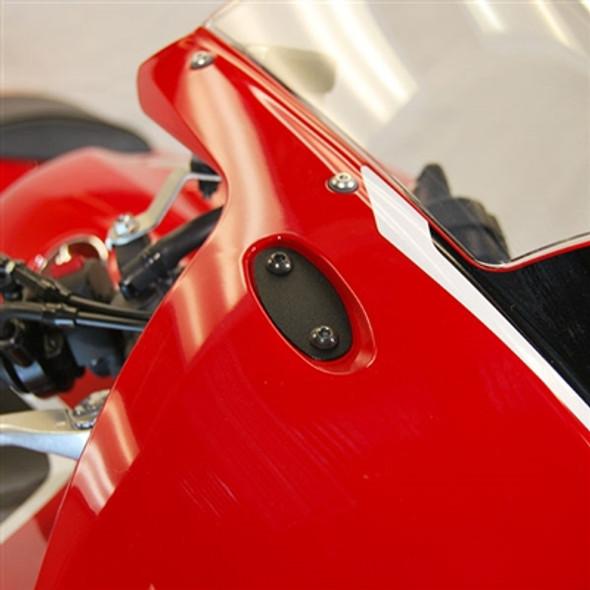 New Rage Cycles Mirror Block Off Plates - 13-20 Honda CBR600RR