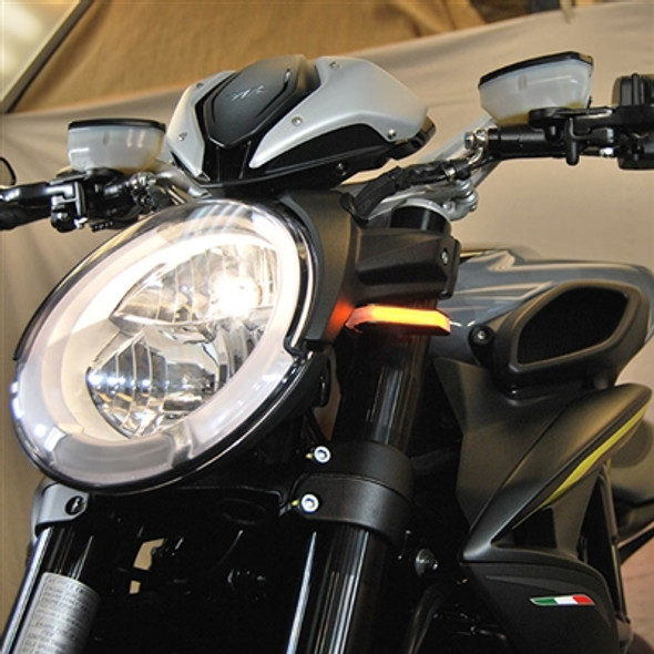 New Rage Cycles LED Front Turn Signals - 19-20 MV Agusta Dragster 800/RR