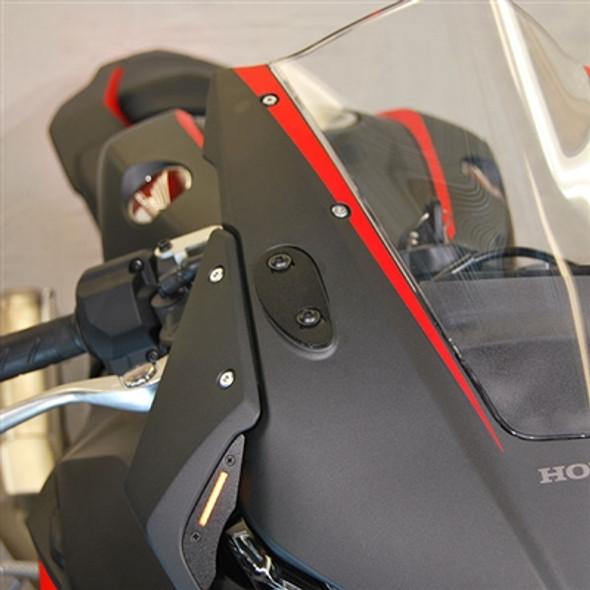 New Rage Cycles Mirror Block Off Plates - 17-19 Honda CBR1000RR