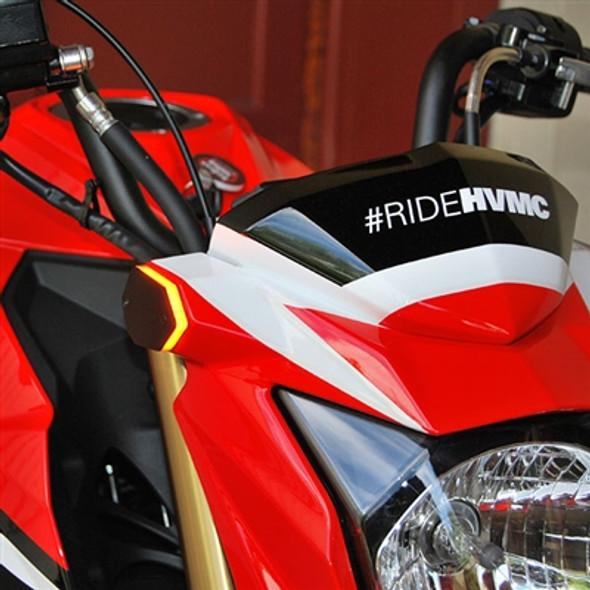New Rage Cycles LED Front Turn Signals 17-20 Kawasaki Z125 Pro