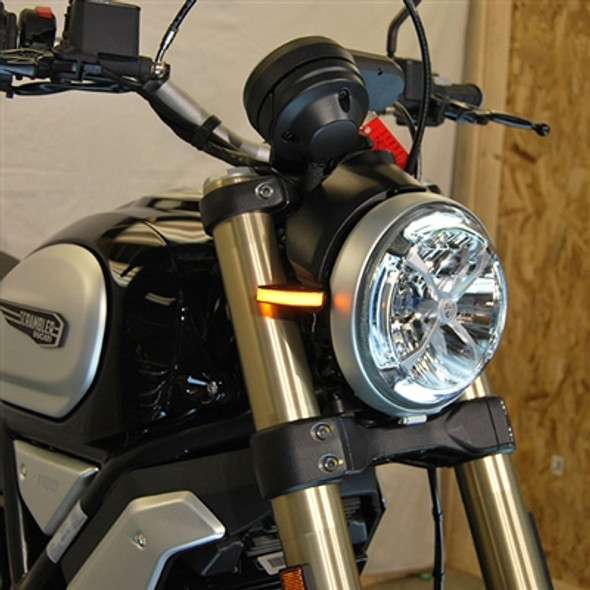 New Rage Cycles LED Front Turn Signals - 18-20 Ducati Scrambler 1100