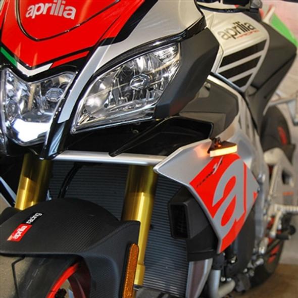 New Rage Cycles LED Front Turn Signals - 11-19 Aprilia Tuono V4 1100
