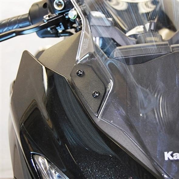 New Rage Cycles Mirror Block Off Plates - 18-20 Kawasaki Ninja 400