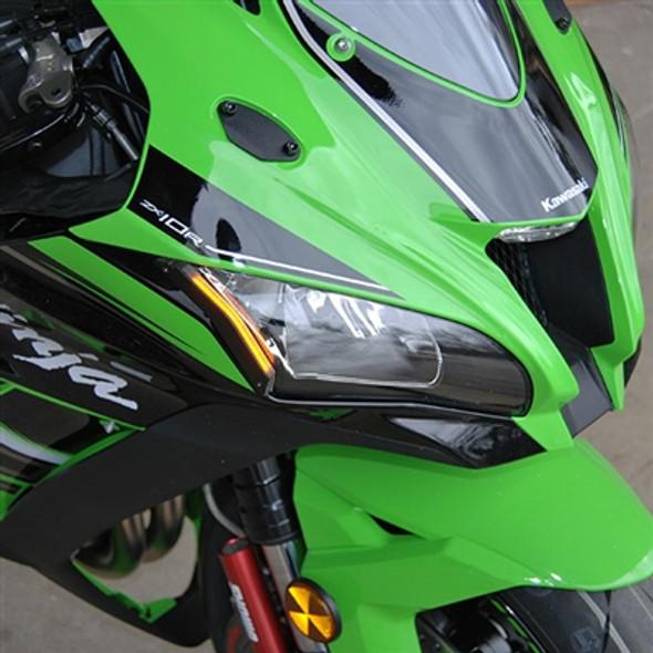 New Rage Cycles LED Front Turn Signals - 16-20 Kawasaki ZX10R