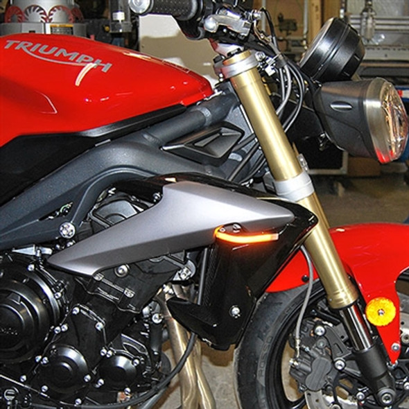 New Rage Cycles LED Front Turn Signals - 13-17 Triumph Street Triple/R