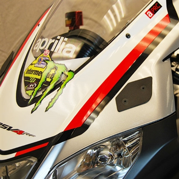 New Rage Cycles Mirror Block Off Plates - 09-19 Aprilia RSV4