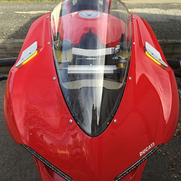 New Rage Cycles Mirror Block Off LED Turn Signals - Ducati 959 Panigale