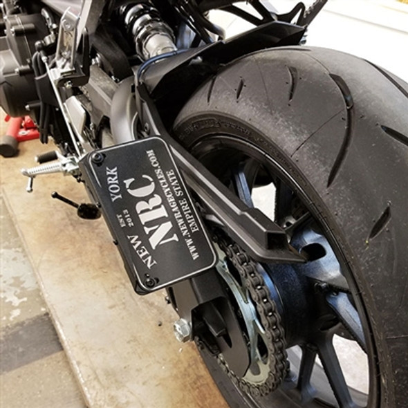 New Rage Cycles 2 Position Side Mount LED Fender Eliminator Bracket - 17-20 Yamaha FZ-09 / MT-09