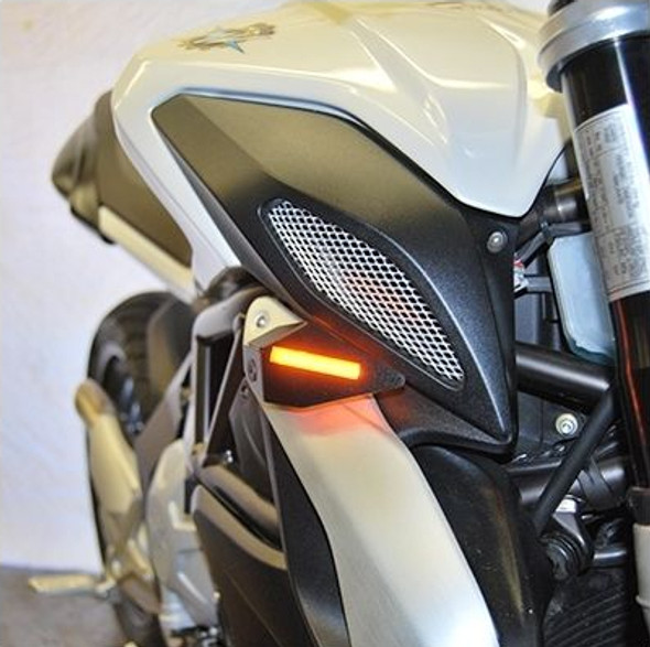 New Rage Cycles LED Front Turn Signals - 14-15 MV Agusta Brutale 675 / 800 / Dragster