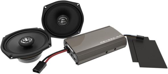 """Hogtunes 225 Watt Amp/Front Speaker Kit - 5 1/4"""" - 98-13 HD FLHT Models"""