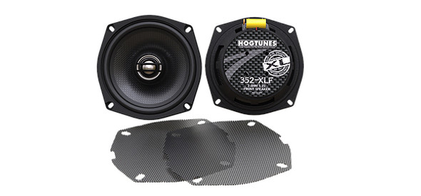 """Hogtunes 352-XLF 5.25"""" Replacement Front Speakers - 98-13 HD FLH/FLTR Models"""