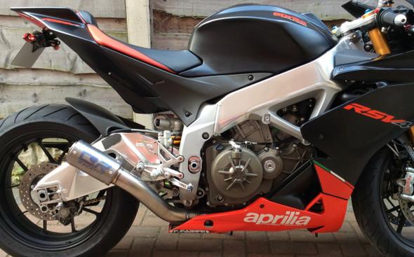 Racefit 09-14 Aprilia RSV4 - Black Edition Slip-on Exhaust