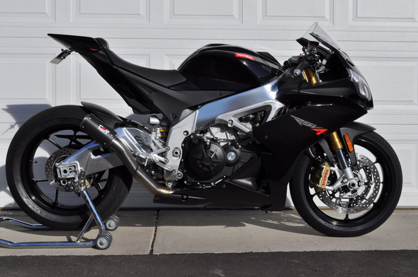 Racefit 09-14 Aprilia RSV4 - Black Edition Slip-on Exhaust