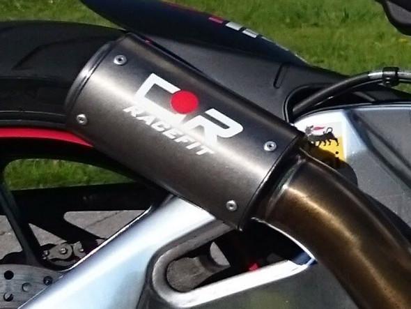Racefit 19-20 Aprilia RSV4 - Black Edition Slip-On Exhaust System