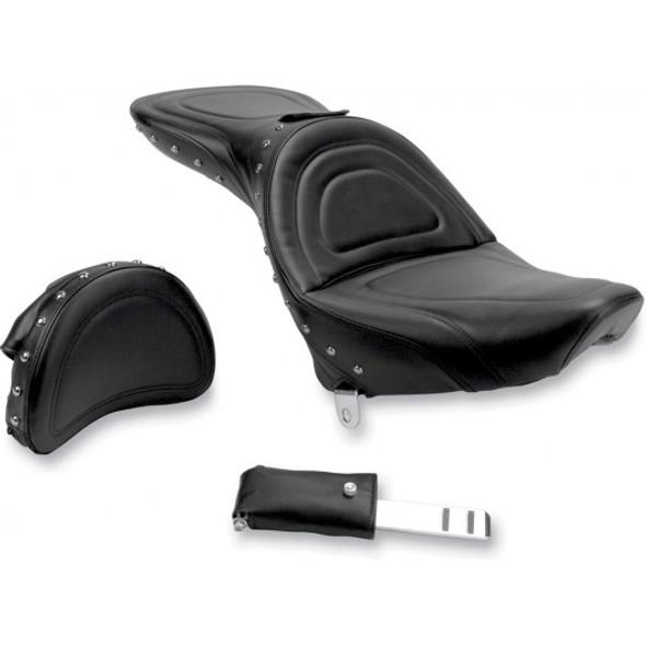 Saddlemen 84-99 FXST/FLST Softail Explorer Special Seat w/ Drivers Backrest