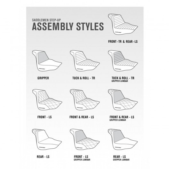 Saddlemen 06-17 FXD, FXDWG, FLD Dyna Step-Up TR Front & Rear Seat