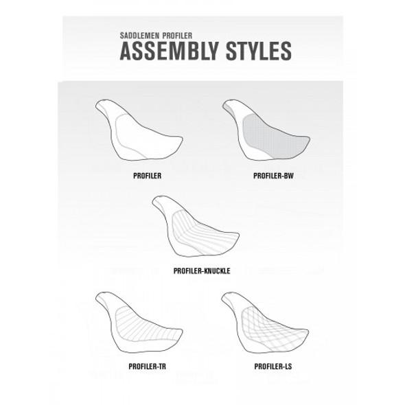 Saddlemen 06-17 FXD, FXDWG, FLD Dyna Knuckle Profiler Seat