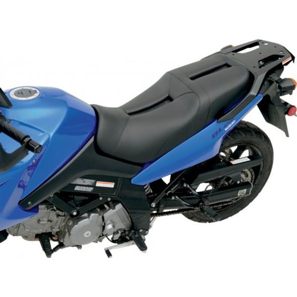 Saddlemen 02-13 DL1000, 04-11 DL650 V-Strom Track CF Style Gel Channel Seat (1pc, 2-Up)