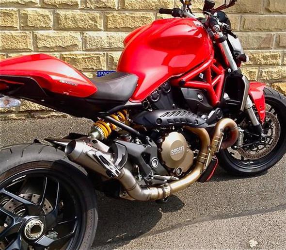 Racefit 14-16 Ducati Monster 1200/S Legend Slip-On Exhaust