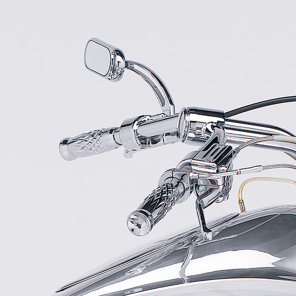 Arlen Ness Bi-Directional Slingshot Grooved Mirror - 13-040