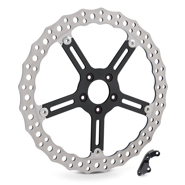 "Arlen Ness 15"" Jagged Big Brake Rotor Kits - 00-17 Dyna/Softail with Hub Mounted Rotors"