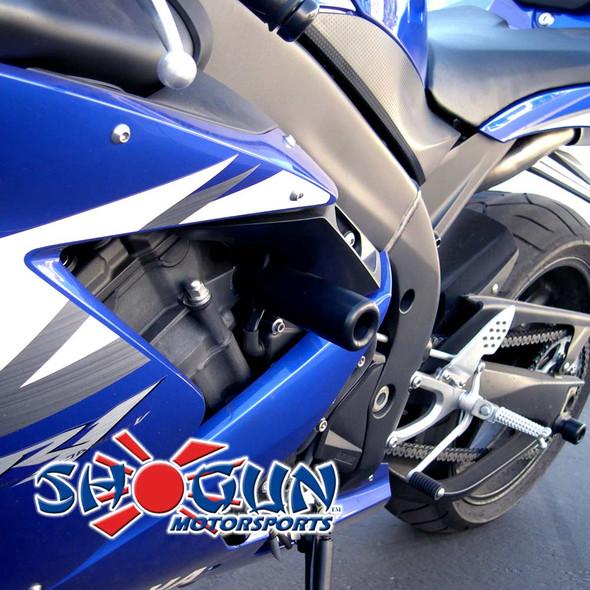 Shogun Frame Sliders - Black - 04-06 R1 No Cut
