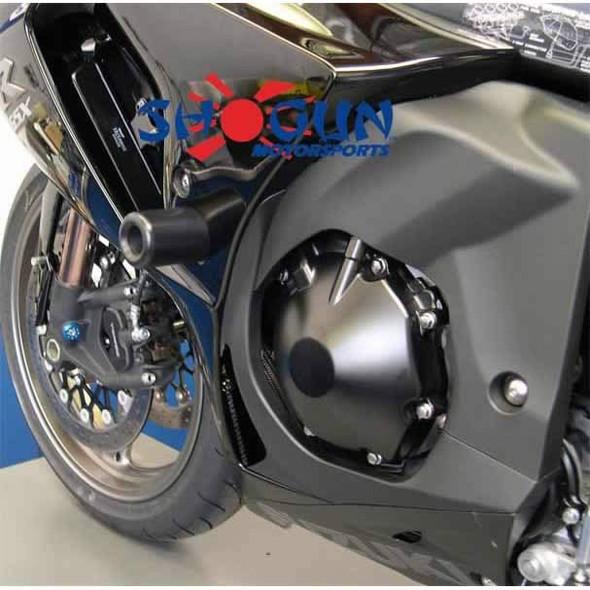 Shogun Frame Sliders - Black - 09-11 GSXR 1000