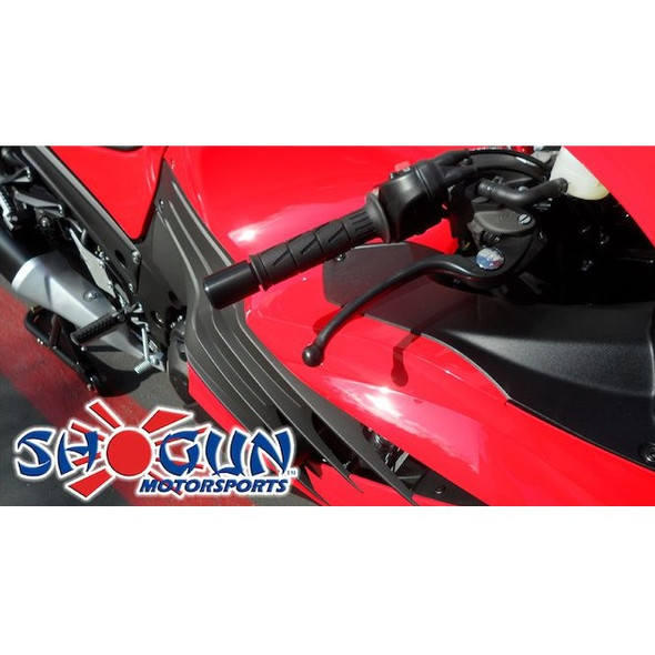 Shogun Complete Slider Kit - Black - 06-11 ZX14 No Cut