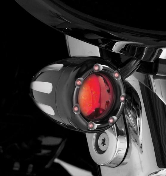 Arlen Ness Deep Cut OEM Style Accessory Light w/ Fire Ring LEDs - All Big Twin Models