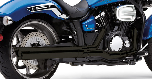 """Cobra Black 4"""" Slip-On Exhaust w/ Scalloped Tip - 11-17 Stryker Models"""
