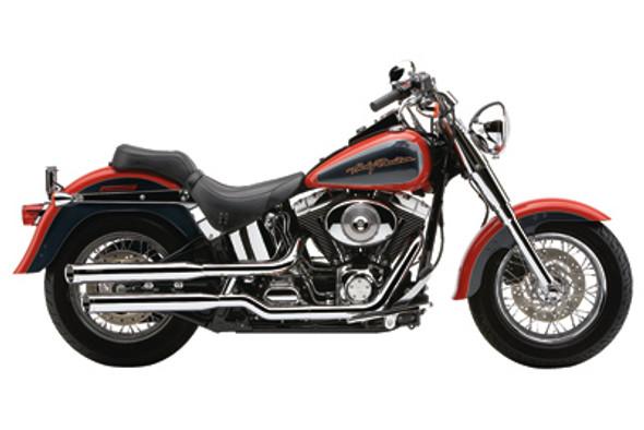 "Cobra 3"" Slashcut Slip-On Exhaust w/ Billet Tips - 07-18 Softail Models"