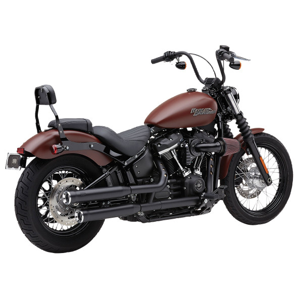 "Cobra 3"" Neighbor Hater Slip-On Exhaust - 2018+ Softail Models - 6047/B"