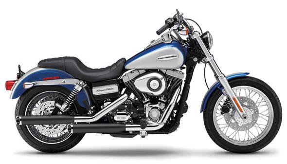 "Cobra 3"" Slashcut Slip-On Exhaust w/ Billet Tips - 91-17 Dyna Models"