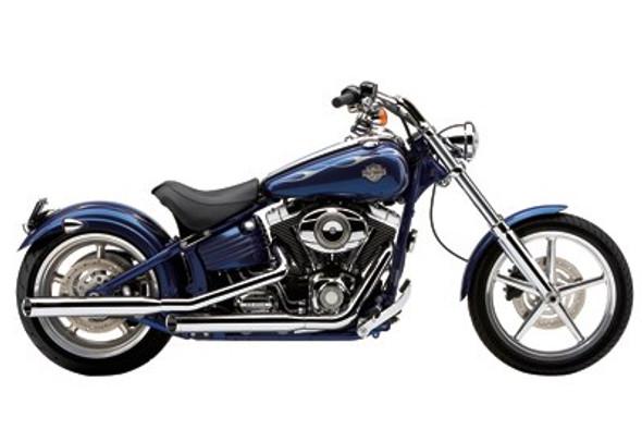 "Cobra 3"" Slashcut Slip-On Exhaust w/ Billet Tips - 07-17 Softail Models - 6003/B"