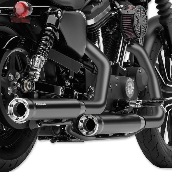 "Cobra 3"" RPT Slip-On Exhaust - 07-17 Softail Models - 6052/6052B"