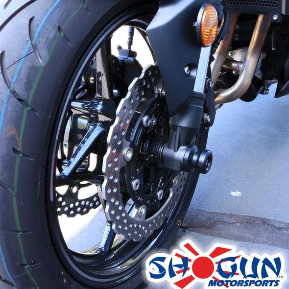 Shogun Front Axle Sliders - Black - 17-20 Z900