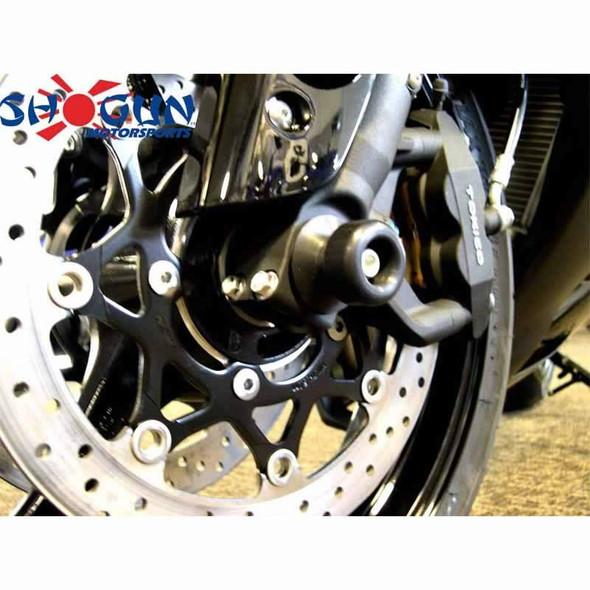 Shogun Front Axle Sliders - Black - 13-20 CBR600RR